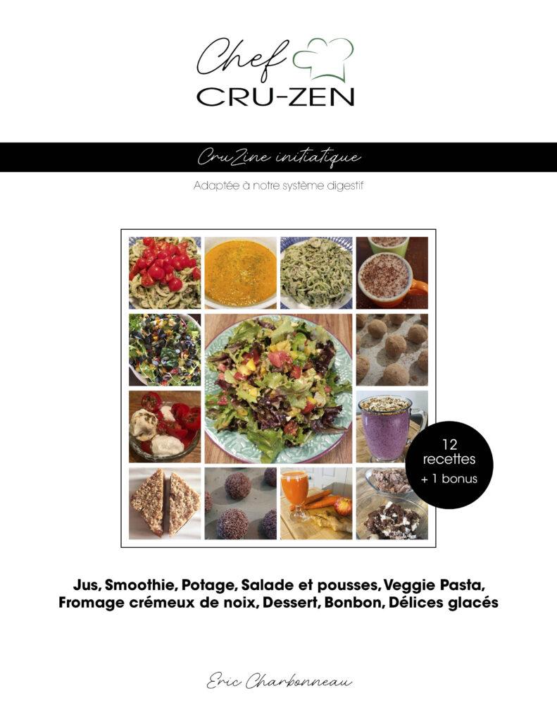 Livre de CruZine initiatique - introduction à la cuisine crue